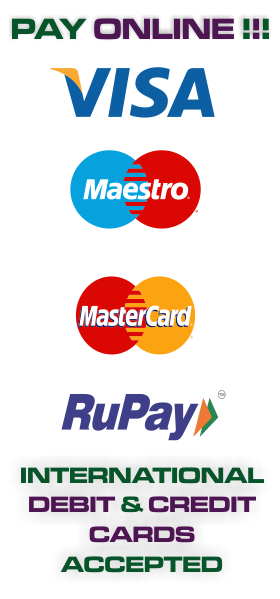 Pay Online Using International Debit or Credit Card
