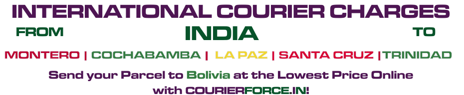 INTERNATIONAL COURIER SERVICE TO BOLIVA