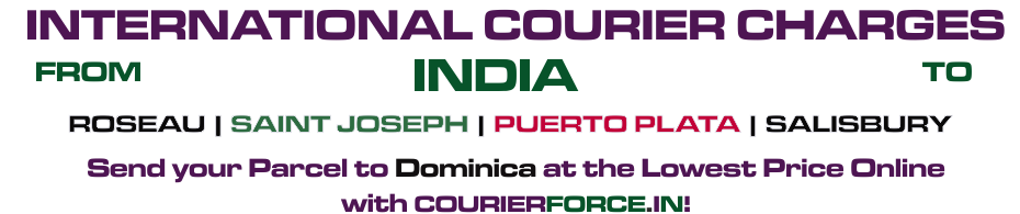 INTERNATIONAL COURIER SERVICE TO DOMINICA
