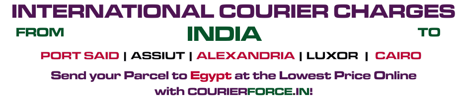 INTERNATIONAL COURIER SERVICE TO EGYPT