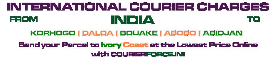 INTERNATIONAL COURIER SERVICE TO IVORY COAST