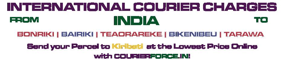 INTERNATIONAL COURIER SERVICE TO KIRIBATI
