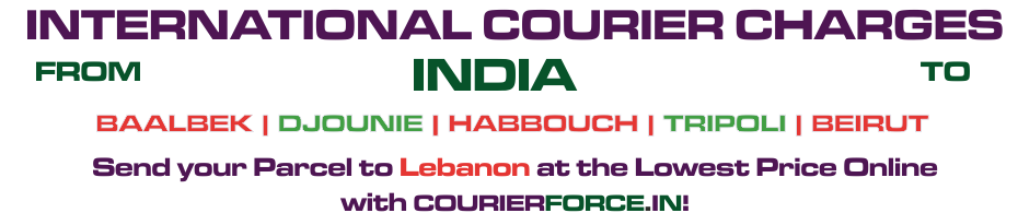 INTERNATIONAL COURIER SERVICE TO LEBANON