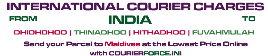 INTERNATIONAL COURIER SERVICE TO MALDIVAS