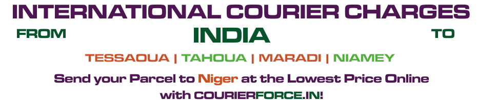 INTERNATIONAL COURIER SERVICE TO NIGER