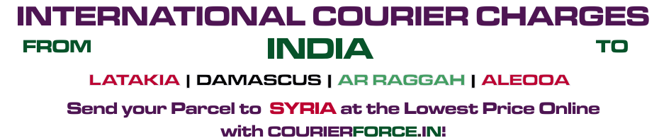 INTERNATIONAL COURIER SERVICE TO SYRIA