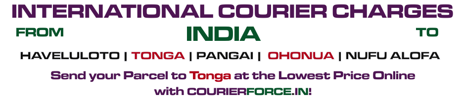INTERNATIONAL COURIER SERVICE TO TONGA