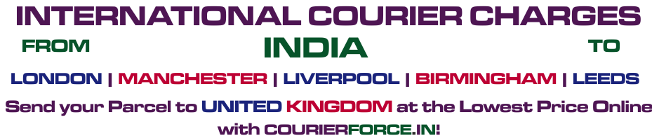 INTERNATIONAL COURIER SERVICE TO UK