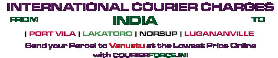 INTERNATIONAL COURIER SERVICE TO VANUATU