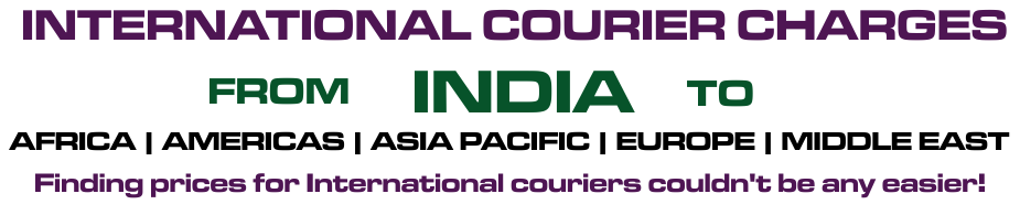 International Courier Charges From Mumbai - India