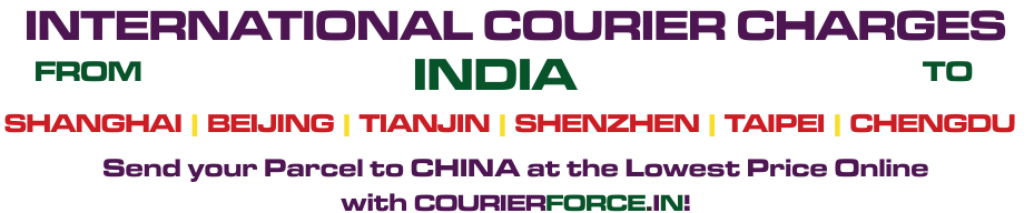 courier to china from india