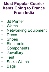 Popular Courier Exports To France From India