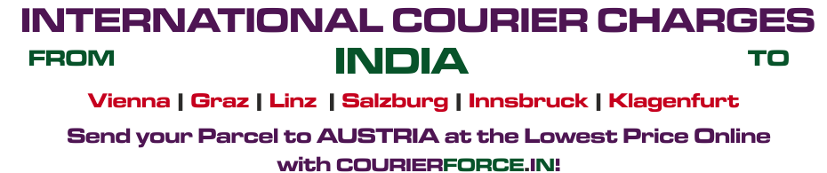courier to austria from india