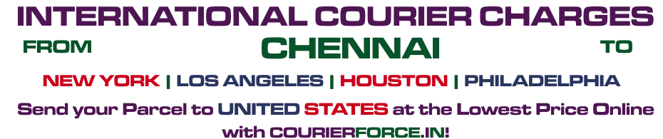 INTERNATIONAL COURIER SERVICE FROM CHENNAI TO USA
