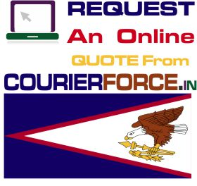 courier charges for american samao